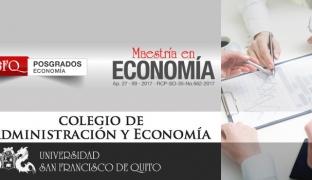 Maestría de Investigación en Economía en la Universidad San Francisco de Quito (USFQ)